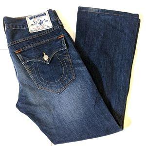 True Religion men's boot cut jeans 32